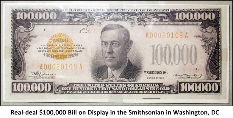 The $100,000 Bi... $100000 Bill